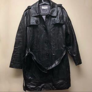 Vintage Women's Plus Size 1X Long Leather Jacket